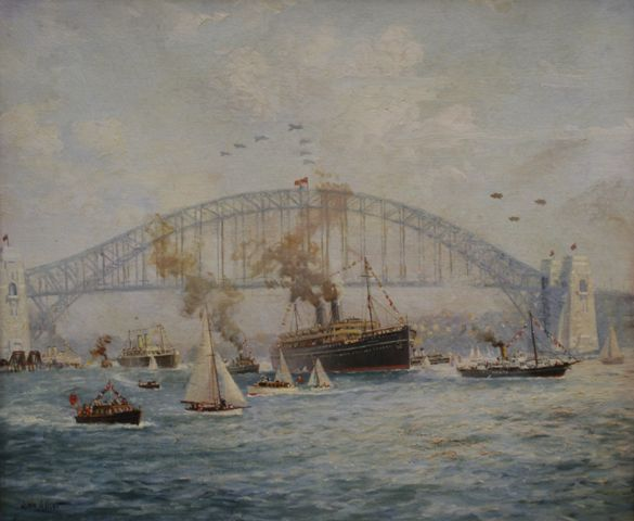 Procession of Vessels at the Opening of the Sydney Harbour Bridge