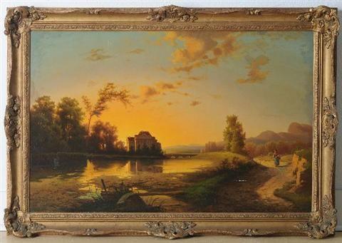 River Landscape with Figure