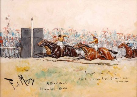A Dead Heat Epsom Lad and Goblet Ascot June 13th 1899 (The Forty-Second Ascot Biennial Stakes of 1204 Sovs)