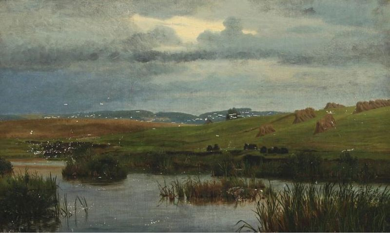 Landscape with lake