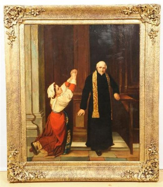 Priest with Praying Figure of a Woman