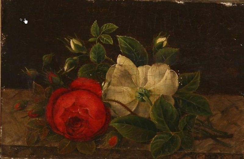 Two still lifes with flowers