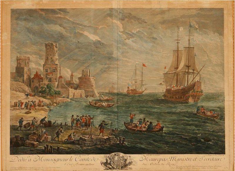 Veue et Port de Mer de Flandre