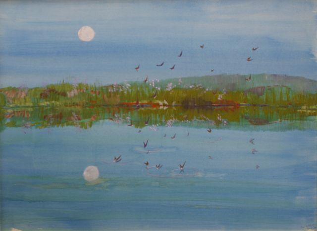 Swallows at Dusk