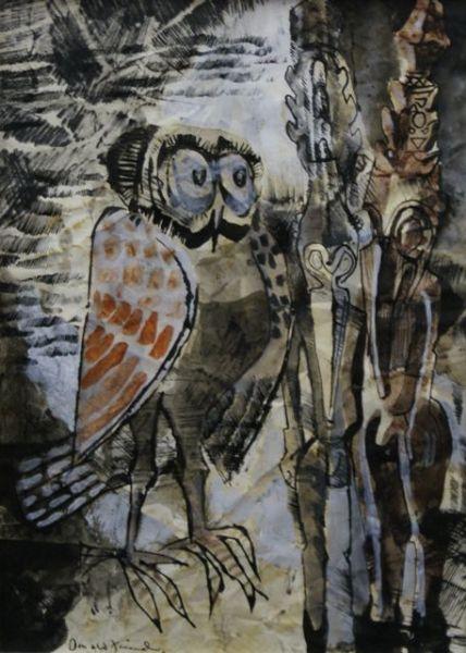 Owl with Sepik Figures