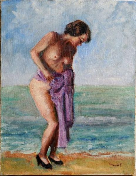 Portrait of a Woman at the Seashore