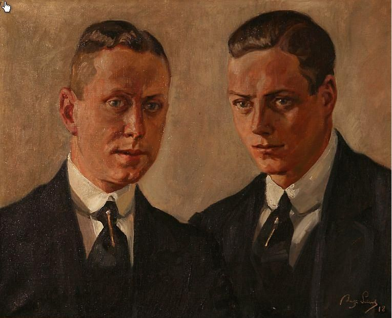 Portrait of the brothers Willy and Peter Paul Wimmelmann.