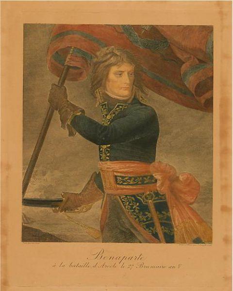 Bonaparte à la bataille d'Arcole le 27 Brumaire an V