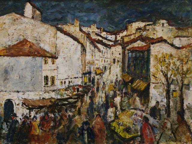 Market Day Spanish Village 1969