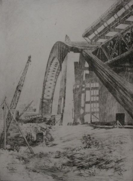 Sydney Harbour Bridge Construction 1932
