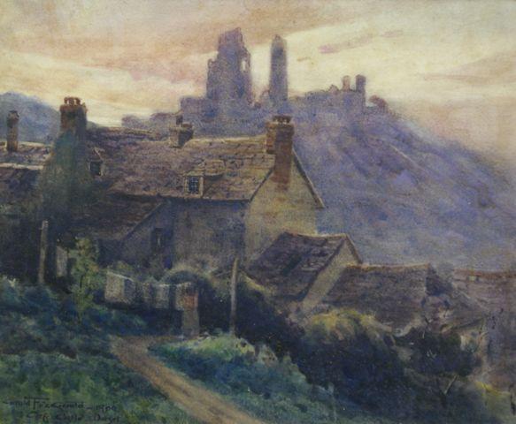 Corfe Castle Dorset 1900