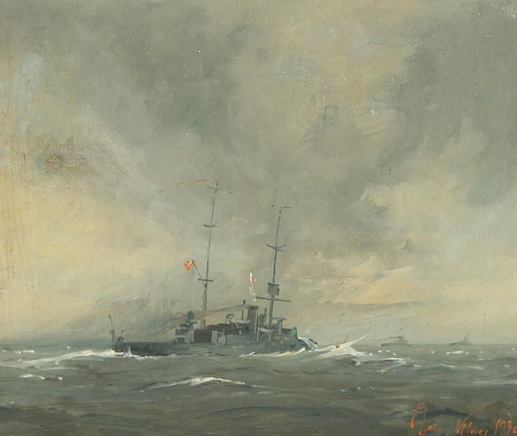 Danish torpedo boats at sea