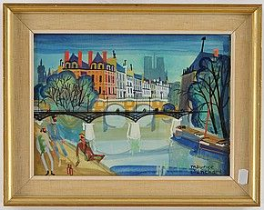 Motiv från Seine Paris