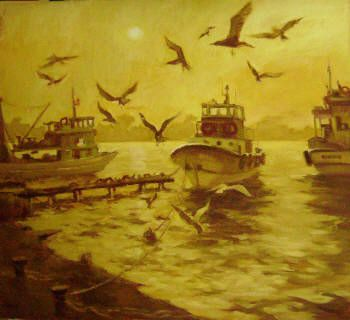 Birds in a Harbour