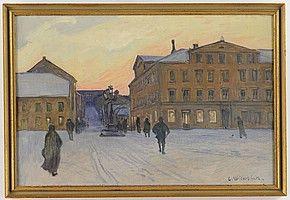 Vintermotiv från Stortorget Uppsala