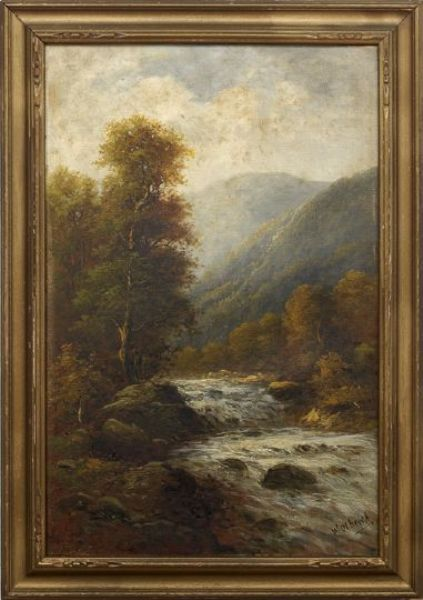 Autumnal Landscape with Rushing Stream