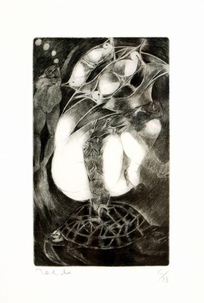 Mujer y tortuga