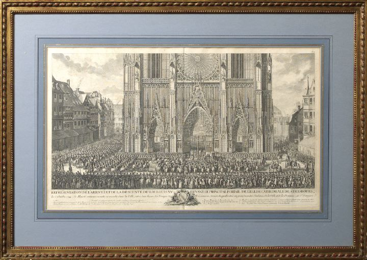 The Arrival of King Louis XV Before the Cathedral of Strasbourg