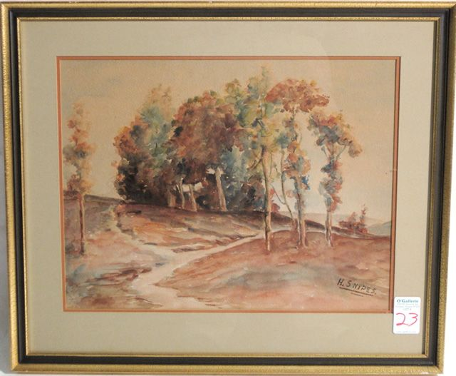 Grove of autumn trees