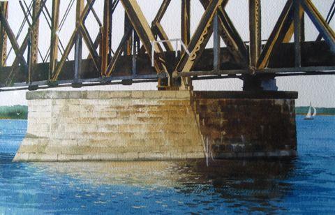 Under the Railroad Bridge