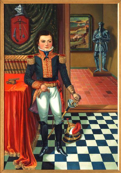 Infante con uniforme militar
