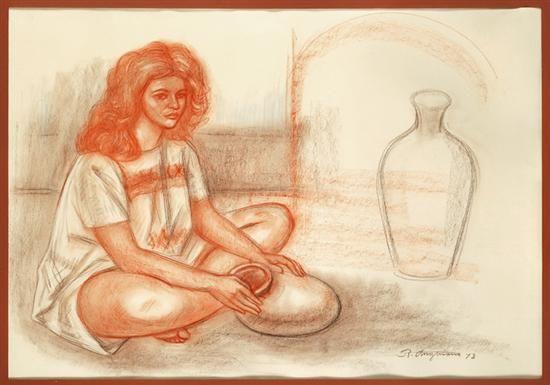 Mujer con vasija