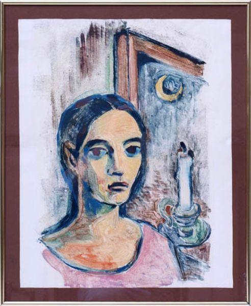 Bildnis einer Frau mit Kerze