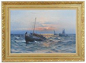 Fiskeflotta till havs