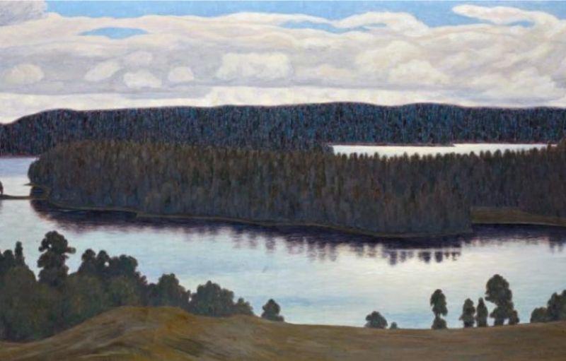 Paysage de lac en Suède