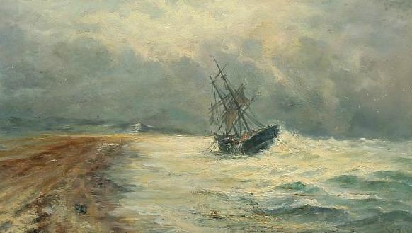 A ship in distress near Skagen