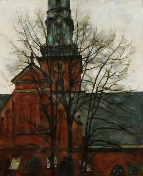 Sct. Petri Kirke. View from St. Petri Church in Copenhagen