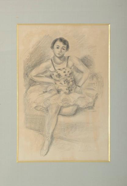Danseuse assise, une jambe repliée. Pl. de la suite Dix danseuses