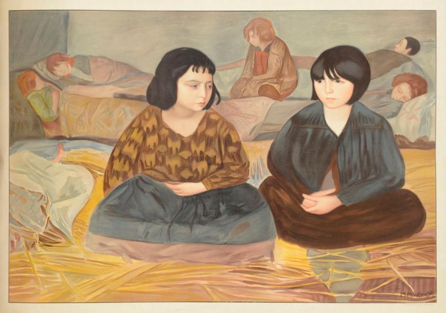 Deux fillettes dans un orphelinat